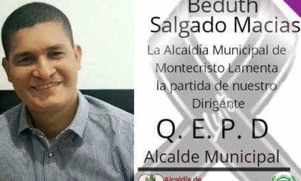 Falleció el alcalde del Municipio de Montecristo, Beduth Salgado Macías