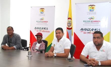Estudiante de Bolívar, ganador del premio India Catalina, visitó la Secretaría de Educación
