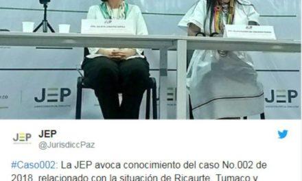 JEP inicia caso 002 por lo ocurrido en Nariño