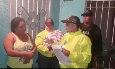 Rescatan bebé raptada en Puerto Colombia