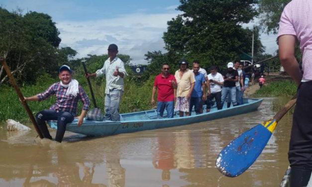 Damnificados por desbordamiento del río Arauca