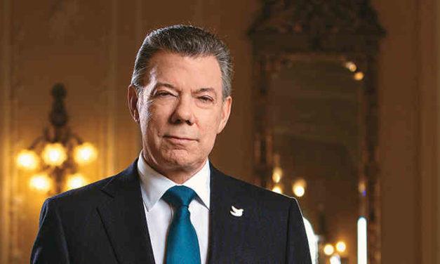 Presidente Santos galardonado por la Paz
