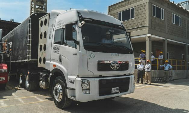 Inicia transporte verde para movilizar carga en Colombia