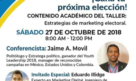 Por primera vez en Cartagena taller de Marketing Electoral