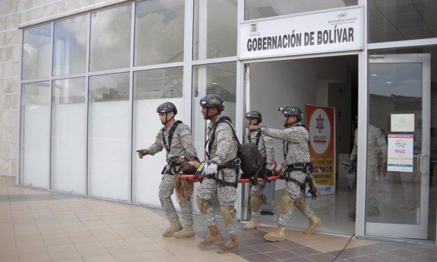 Bolívar participó en el séptimo simulacro nacional