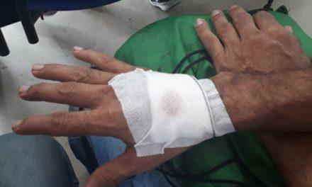 Operario de aseo agredido por habitante de calle