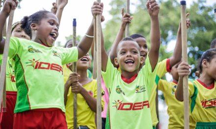 IDER celebra independencia de Cartagena con niños de la Escuela de Formación Deportiva