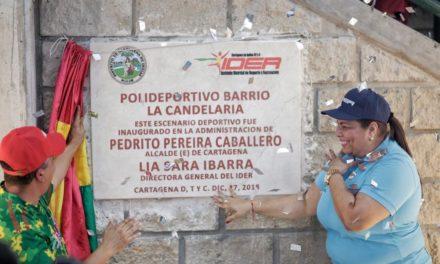 Alcaldía e IDER entregan Polideportivo de la Candelaria
