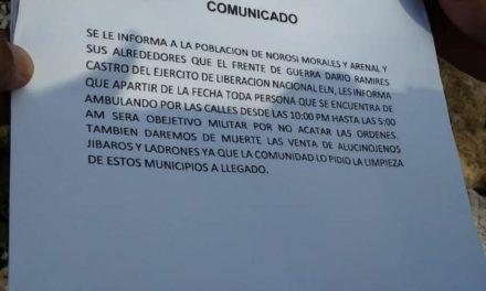 Panfleto siembra temor en municipios del sur de Bolívar