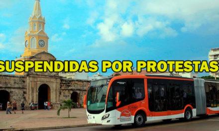 Transcaribe suspende el servicio en varias rutas y estaciones