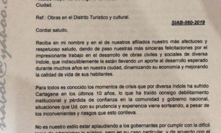 Sociedad de Ingenieros y Arquitectos de Bolívar exalta gestión de Pedrito Pereira