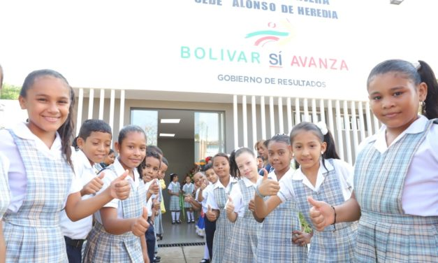 Gobernación de Bolivar entrega auditorio en colegio Tomasa Nájera de Mompox