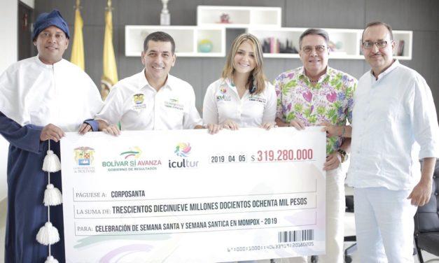 Gobernación de Bolívar entrega apoyo para la celebración de Semana Mayor y Semana Santica de Mompox