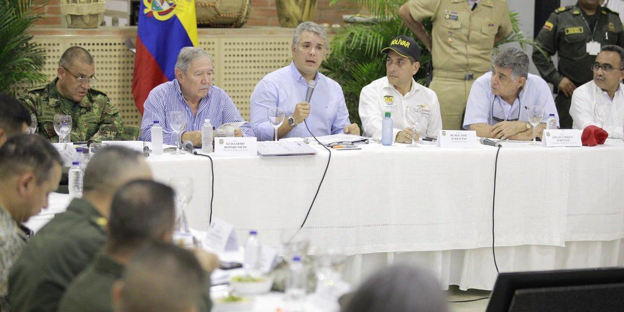 El Presidente Duque se compromete con la seguridad de Bolívar