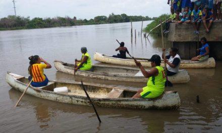 En el canal del Dique Leticia celebró las Fiestas del Pescador.