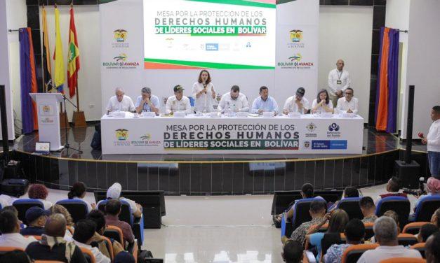 Balance positivo en mesa de trabajo por protección de derechos humanos de líderes sociales en Bolívar