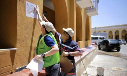 Cierre preventivo de obras en el centro histórico por parte del Ipcc
