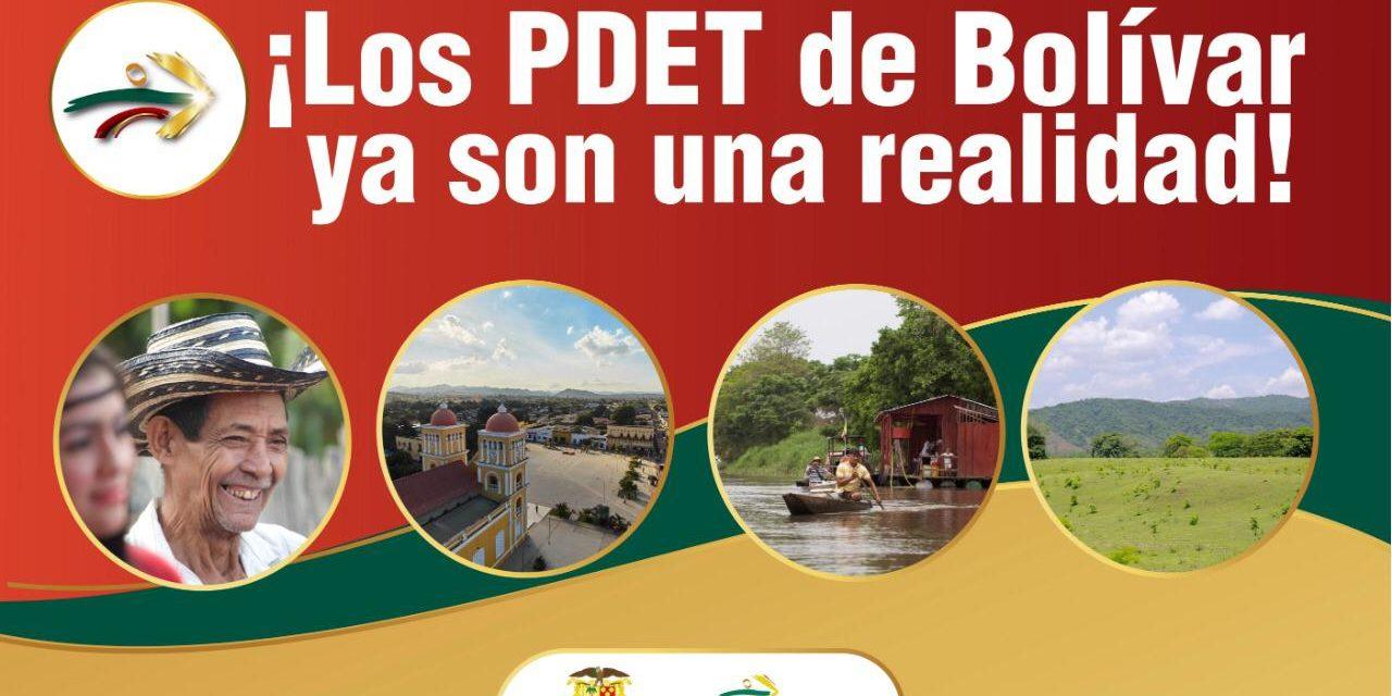 Bolívar, primer departamento en oficializar el PDET