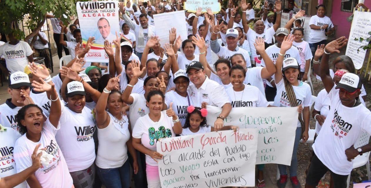 William García sigue recorriendo los barrios de Cartagena