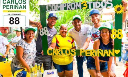 Carlos Periñan con el respaldo de la gente