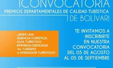 Convocatoria premios departamentales de calidad turística de Bolívar