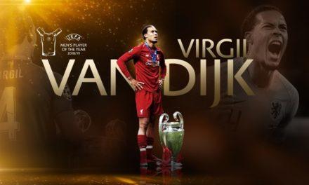 Virgil van Dijk fue elegido como Mejor Jugador del Año de la UEFA