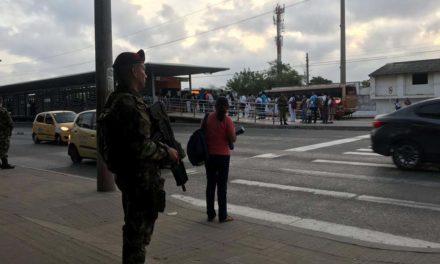 Ejército dispersa protesta estudiantil en Barranquilla
