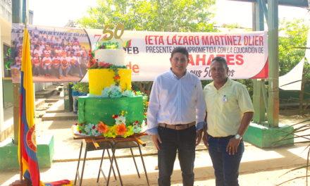Institución Educativa Lázaro Martínez Olier, celebró 50 años de vida académica en Mahates