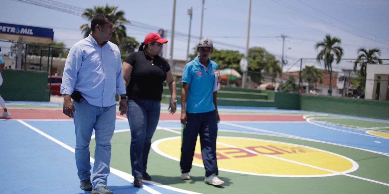 La Alcaldia de Cartagena y el IDER continúan trabajando en mejoras a escenarios deportivos