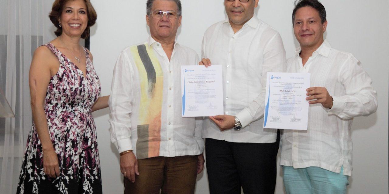 Dos instituciones cartageneras reciben certificación como Centros de Excelencia del método clínico Madre Canguro