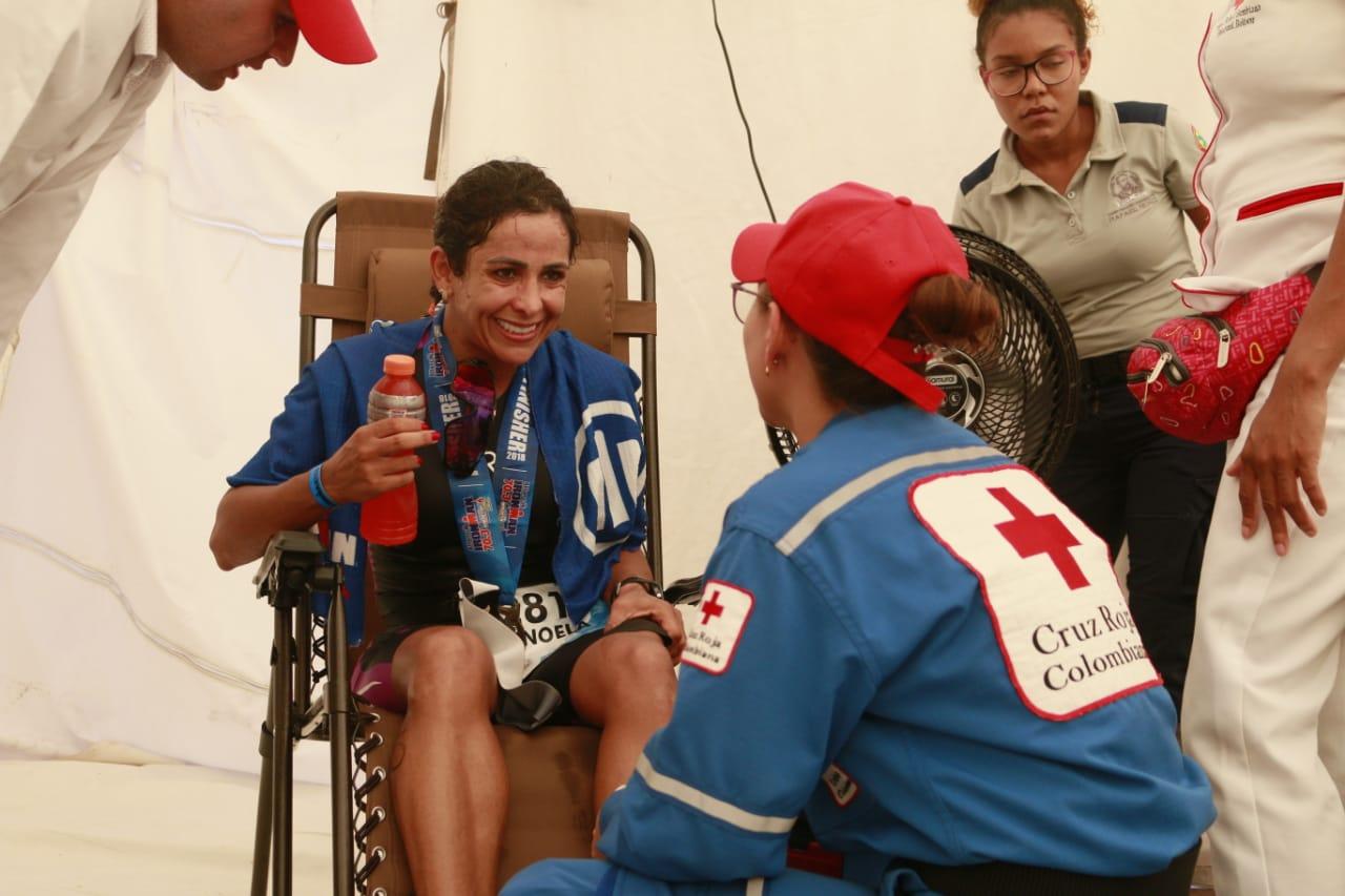 Cruz Roja Colombiana Seccional Bolívar presta la Atención Prehospitalaria de Ironman 70.3 Cartagena de Indias 2019