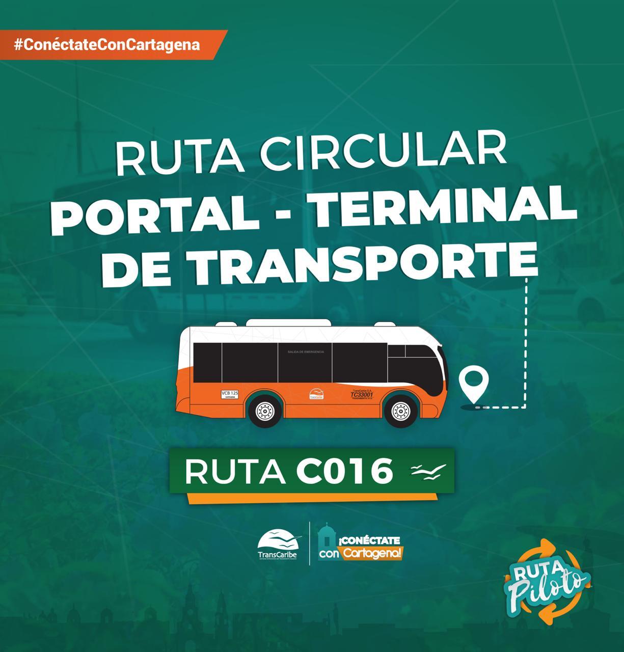 Nueva ruta de transcaribe Portal – Terminal de Transporte