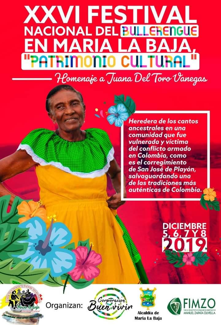 María La Baja celebra su XXVI Festival Nacional del Bullerengue