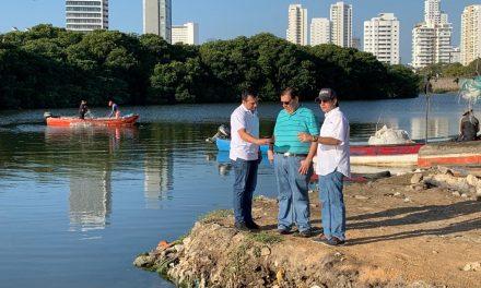 Cardique inspecciona trabajos de recuperación de Ciénaga de Las Quintas