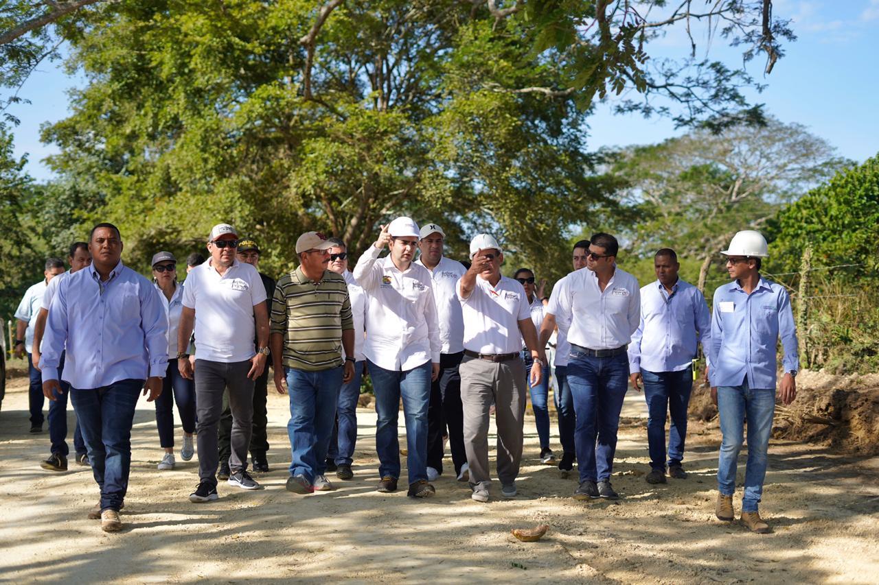 Gobernación de Bolívar inspecciona la obra Variante Mamonal – Gambote