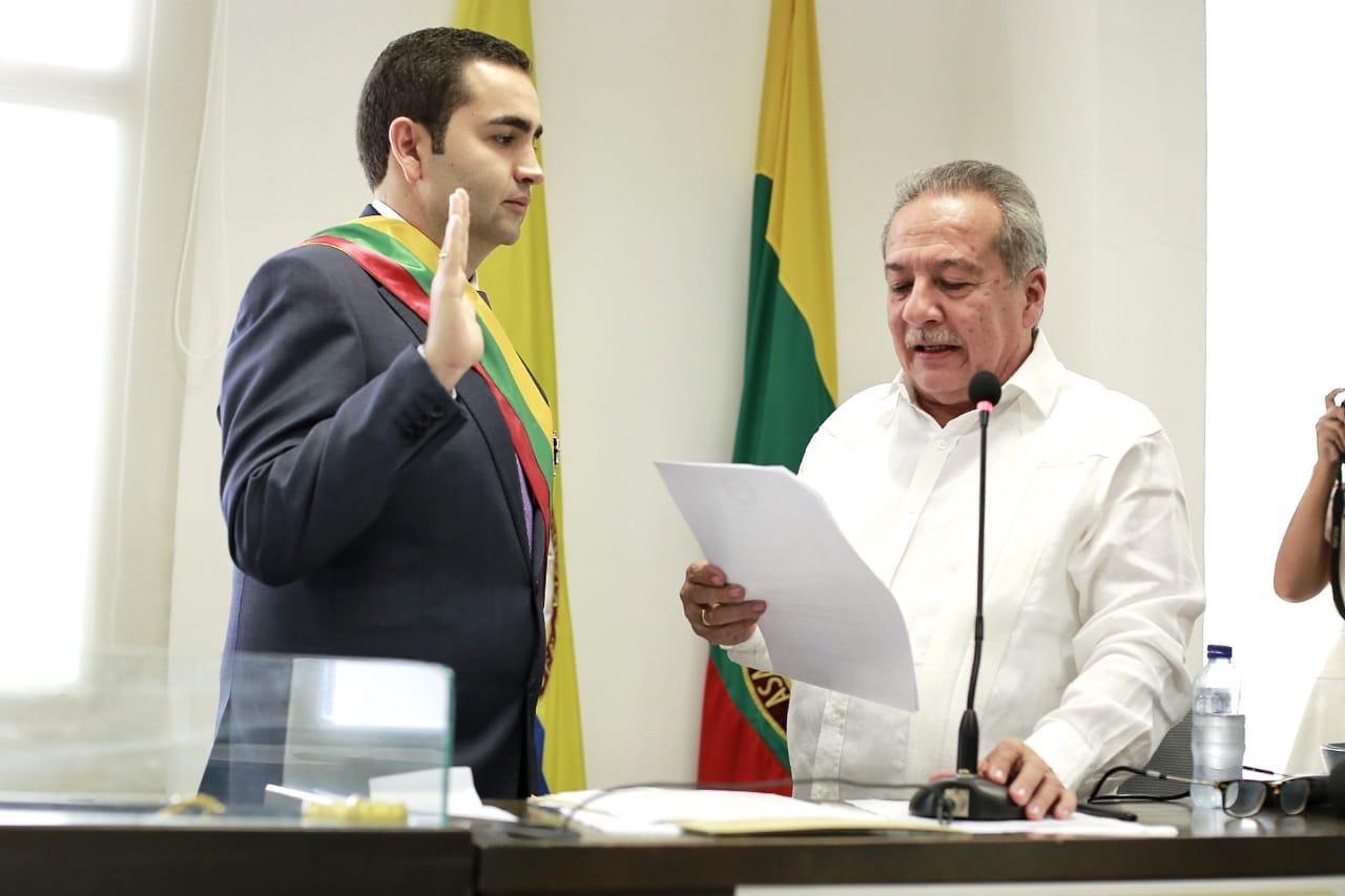 Vicente Blel Scaff se posesiona como Gobernador de Bolívar