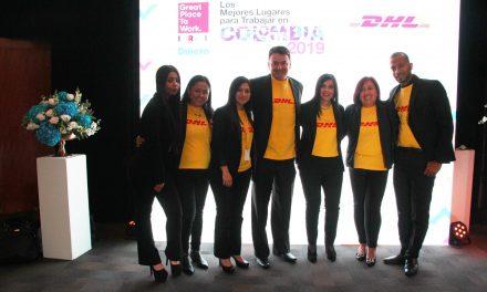 Por tercer año consecutivo, DHL Express fue reconocida como la mejor empresa de más de 500 empleados para trabajar en Colombia