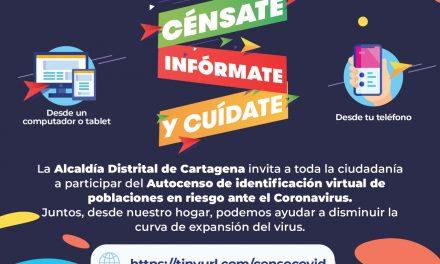 Nuevo formulario virtual para identificar población en riesgo ante el coronavirus en Cartagena