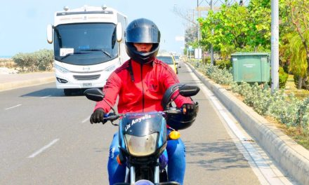 DATT recomienda buen uso del casco para prevenir el coronavirus