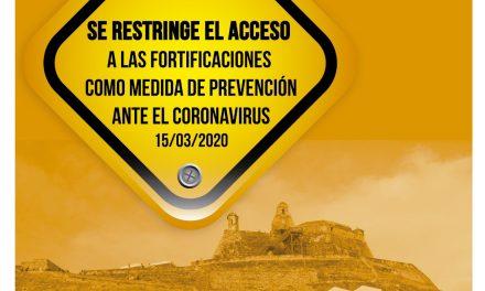 Cierre al público de Castillo de San Felipe y fortificaciones