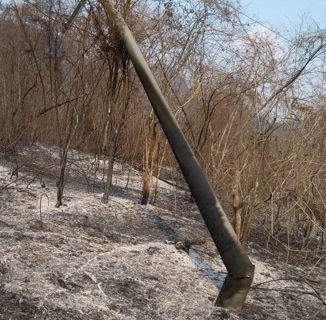 San Jacinto sin luz por incendios forestales
