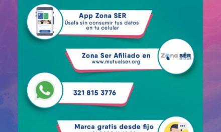 Disponibles canales de atención para afiliados a Mutual SER EPS