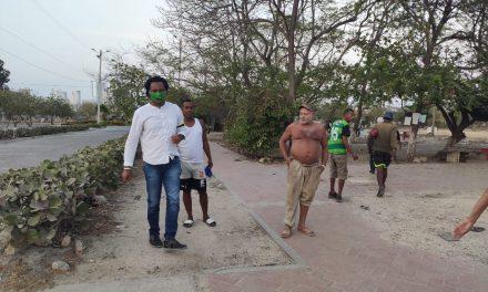 Operativos de direccionamiento para habitantes de calle en Cartagena
