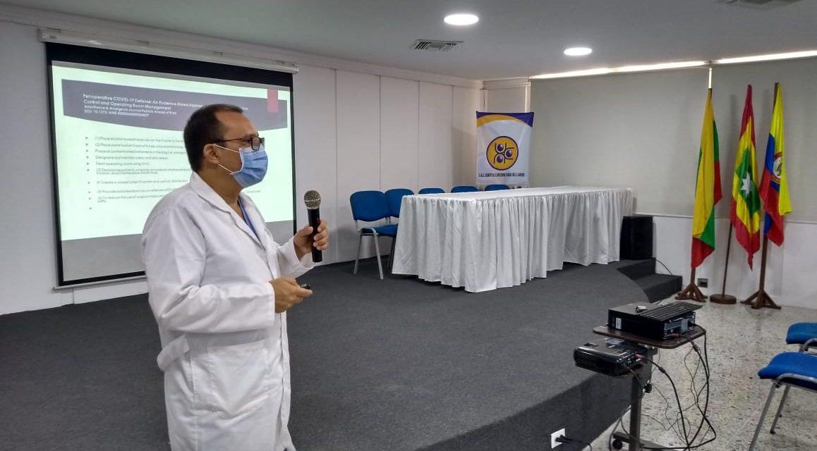 Hospital Universitario  prepara a personal asistencial para atender emergencia por COVID-19