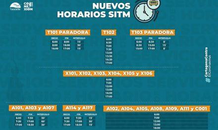 Nuevos horarios de circulación de Transcaribe