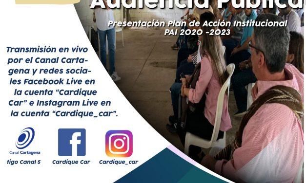 Cardique realizará audiencia pública virtual