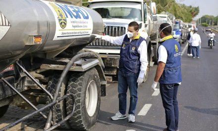 Gobernador Vicente Blel despacha 43 carrotanques en tiempos de contingencia