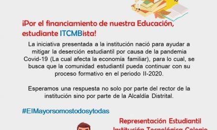 Representantes de Colegio Mayor de Bolívar solicitan la finanza de sus matrículas