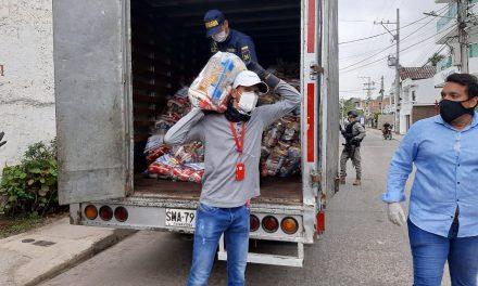 La Boquilla recibe 1.300 ayudas humanitarias