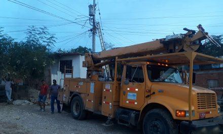 Reponen servicio de energía en Loma de Albornoz